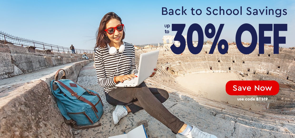 Back to School Sale - up to 30% Off — use code BTS19