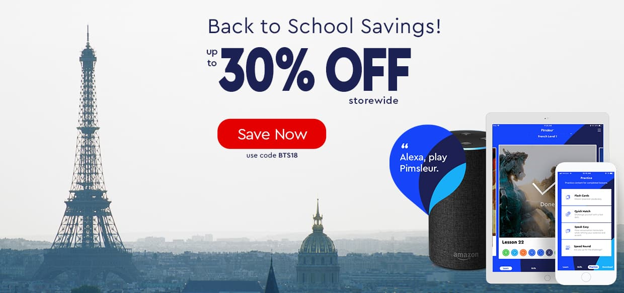 Back to School Sale — up to 30% OFF — use code BTS18